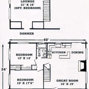 Lockloosa Log Home Floorplan