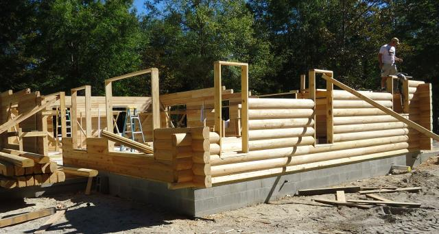 Cypress Log Home Construction