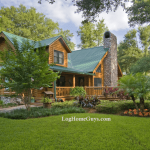 One of the top Log Home Floor Plans the Shenandoah Cypress Log Home Exterior Photo by Log Home Guys